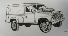 Land Rover 110. 12 volt V8 engine vehicles. Truck Utility Medium.User handbook.